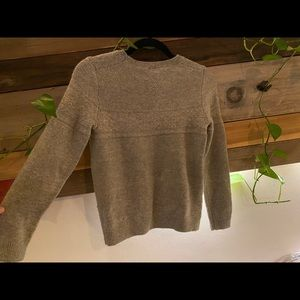 GAP Grey/Brown Knit Crew Neck Sweater - Size S 🖤